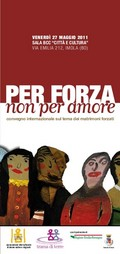 invito convegno sui matrimoni forzati, 27 maggio 2011