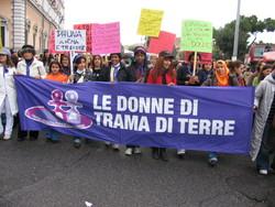 manifestazione contro la violenza sulle donne, roma 2007