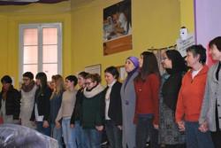 Immagine della formazione con Maria Di Rienzo