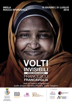 Locandina mostra Volti Invisibili a Imola
