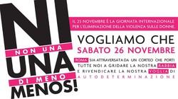 Non una di meno - manifestazione nazionale contro la violenza maschile sulle donne - 26 novembre 2016