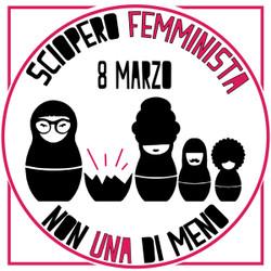 Adesivo Non Una di Meno - Sciopero femminista