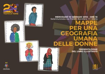 """Locandina """"Mappe per una geografia umana delle donne"""""""
