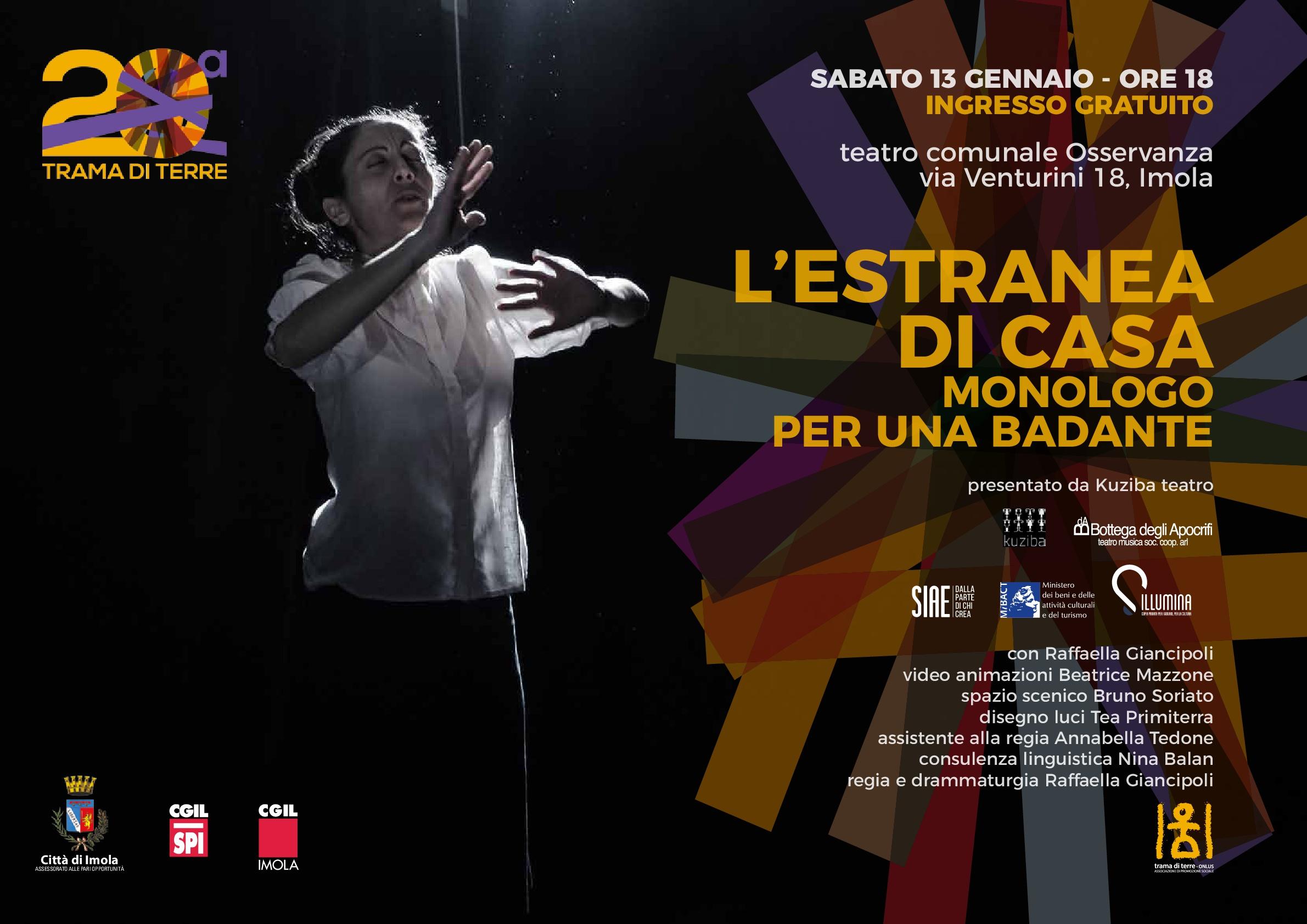 """""""L'estranea di casa. Monologo per una badante"""" 13.01.2018"""